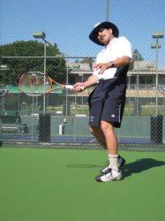 Tennis hitting in Hollywood (++Hollywood+++