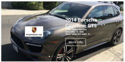 ONLINE AUCTION OF PORSCHE CAYENNE GTS
