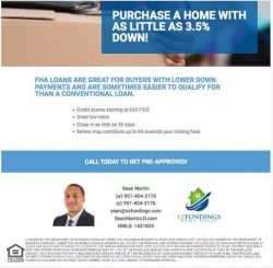 FHA Home Loans Available 3.5% Down!